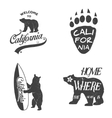 Set of vintage monochrome california emblems and vector image vector image