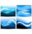 3d stylized water waves vector image