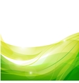 abstract line green background vector image