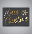 Grunge style Christmas card design vector image