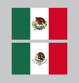 mexico colorful flags in grey background vector image
