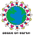 Peace On Earth vector image