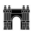 triumphal arch icon black vector image