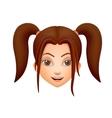 The girls face brunette vector image