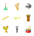Device for music icons set cartoon style vector image