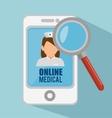 smartphone online medical search app vector image