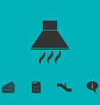 extractor hood icon flat vector image