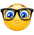 Emoticon with eyeglasses vector image