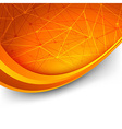 Bright orange intricacy molecule background vector image