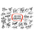 big collection of hand lettered ampersands and vector image