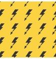 Black yellow lightnings seamless background vector image