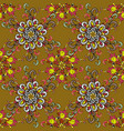 on colorful background beautiful fabric pattern vector image