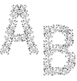 Ornamental letter ab vector image
