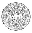 Saint Patrick Day Theme mandala with Irish pot of vector image