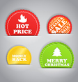 Shopping colorful discount labels collection vector image vector image