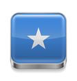 Metal icon of Somalia vector image