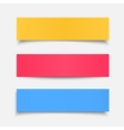 set realistic colorful paper sheet vector image