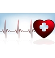 Heart and heartbeat symbol vector image