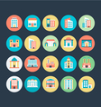 Buildings Icons 5 vector image