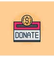 Donation flat vector image vector image