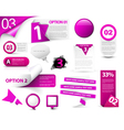 Web banner elements vector image