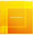 Abstract geometric orange background for design vector image