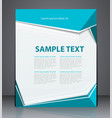 business brochure flyer design layout template vector image