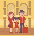 family shoping flat vector image