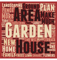 How to Make the Most of Your Garden text vector image