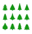 Set of christmas tree silhouettes vector image