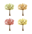 Tree set with different color leaves Trunk vector image