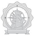 ship badges vector image vector image