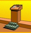 corruption metaphor in politics pop art vector image
