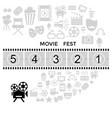 digital black cinema vector image