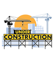 under construction color vector image