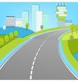 02 Road landscape vector image