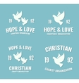 dove logo or icon Hope and love poster vector image