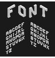 Isometric Latin Alphabet 3D Geometric Font Three vector image