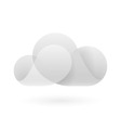 Abstract grey and white cloud vector image vector image