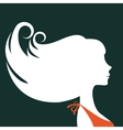 Beautiful elegant woman silhouette vector image