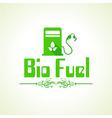 Bio fuel concept with petrol pump machine vector image