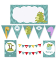 birthday party elements vector image
