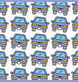 car front repair service garage seamless pattern vector image