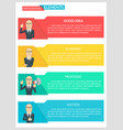 flat design infographic business template vector image