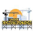 under construction color vector image