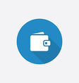 wallet Flat Blue Simple Icon with long shadow vector image