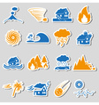 various natural disasters problems in the world vector image