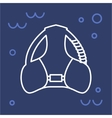 Icon bcd diving equipment vector image