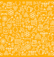 honey thin line seamless pattern vector image