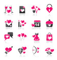 love and valentine holidays icons vector image